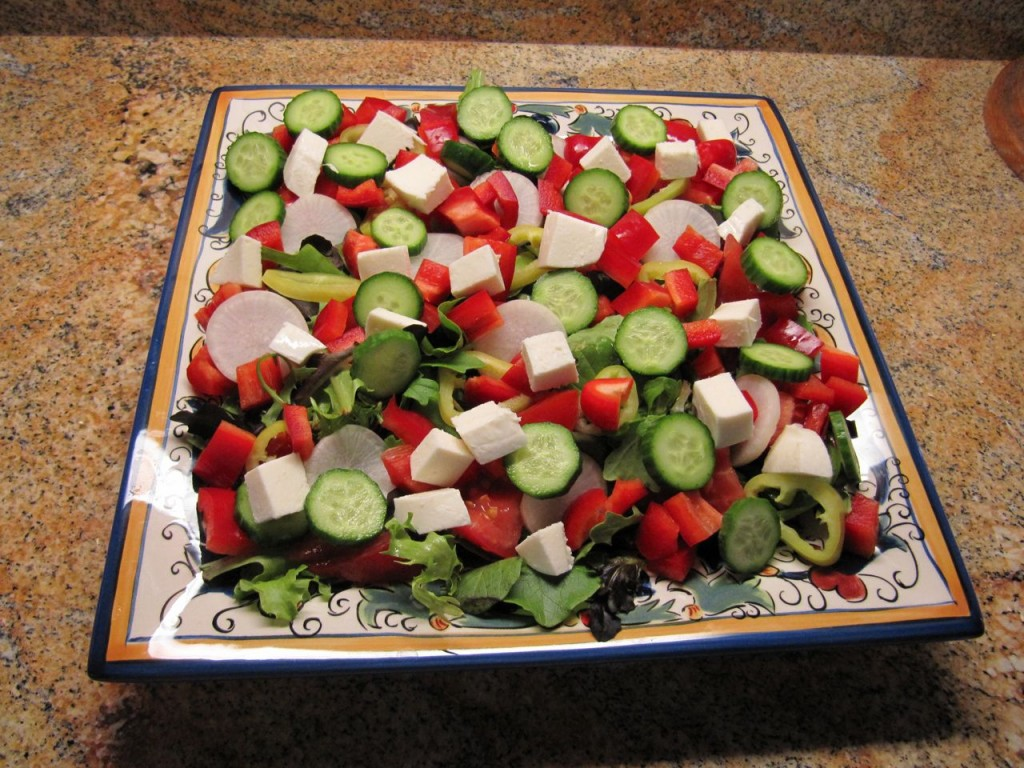 With eye and taste appeal high, this salad fortifies you against tempting, fatty,holiday food