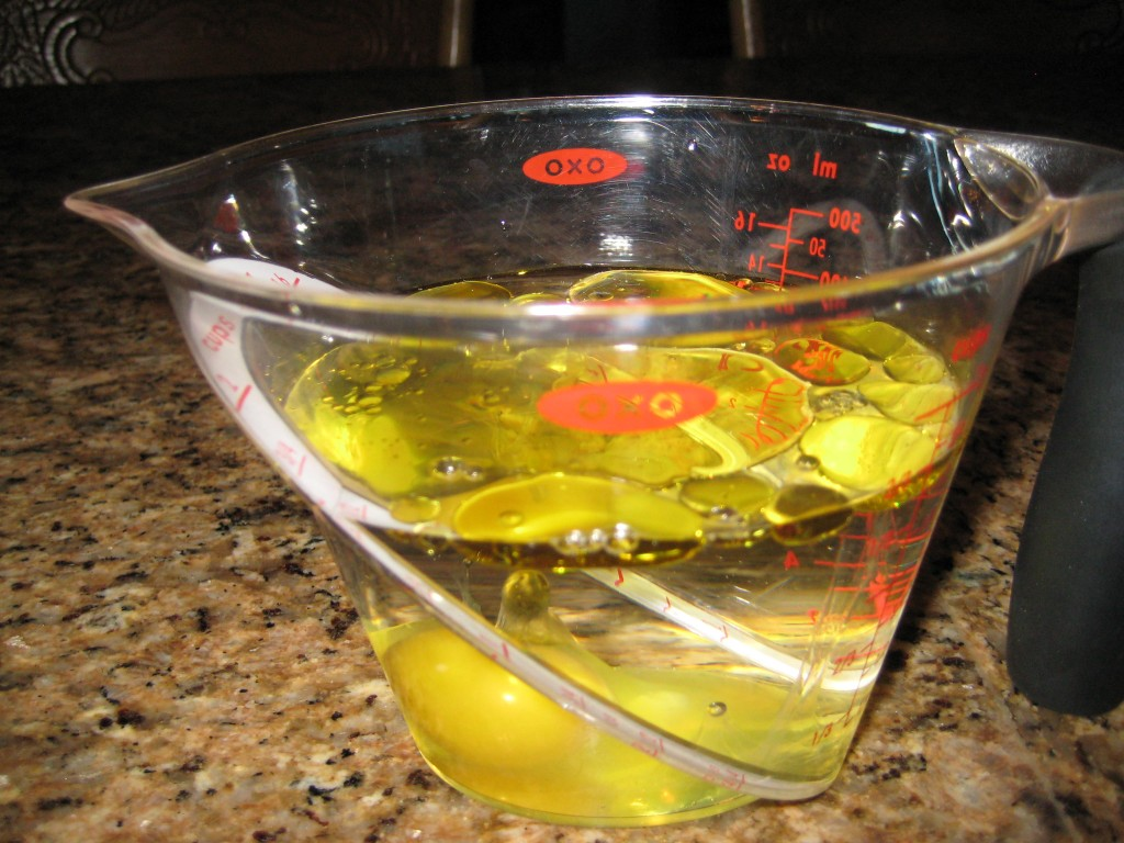 Add Oil Packet and Egg to Water
