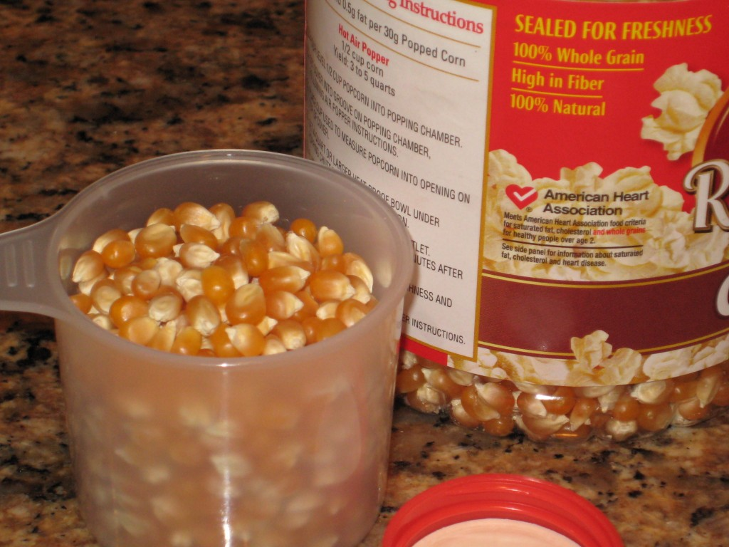 Popcorn with the American Heart Assoc. statement.