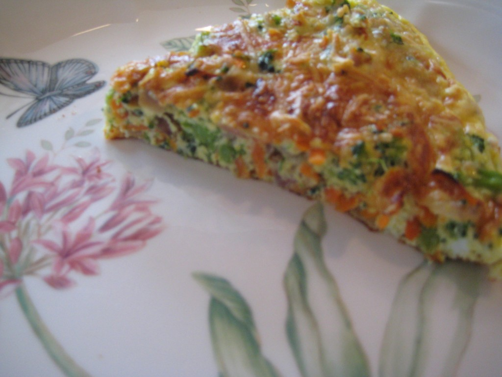 Extra frittata can be microwaved for a second meal.