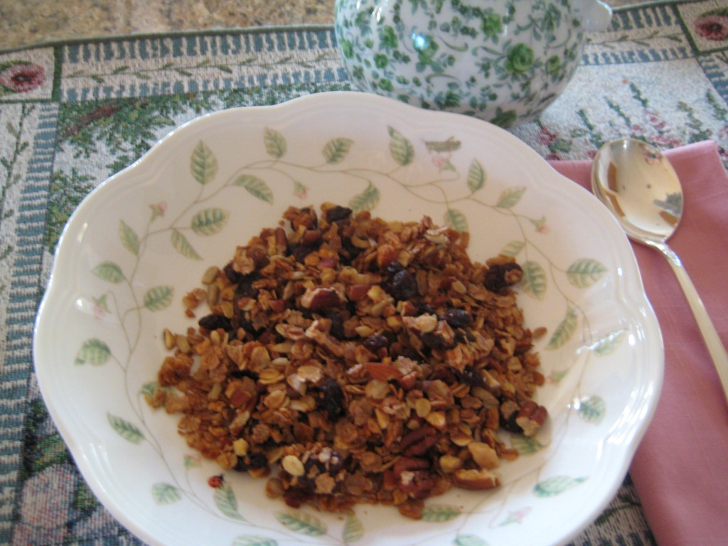 Homemade granola from Mountain Top Breakfast - You control the ingredients.