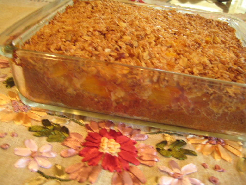 Peaches and Pecans Breakfast Cake (made with Dr. Grandma's Muffins Your Way)