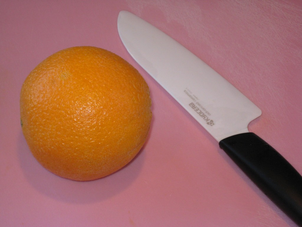 Making oranges easy for work or school lunches.