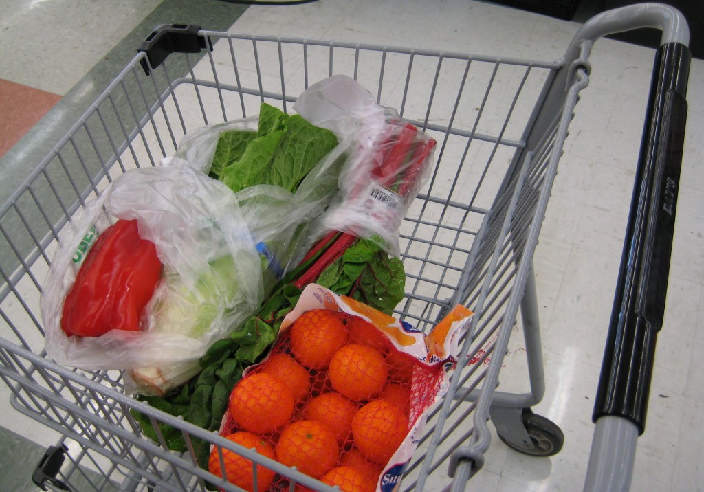 Hoping that there is nothing weird about vegetables in your shopping cart.