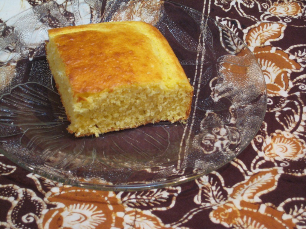 Another view of the Best Cornbread Ever.