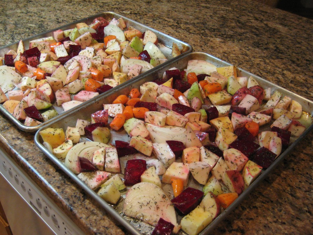 They're all ready for the oven; it doesn't really take much time if you don't have to stop and take their pictures.