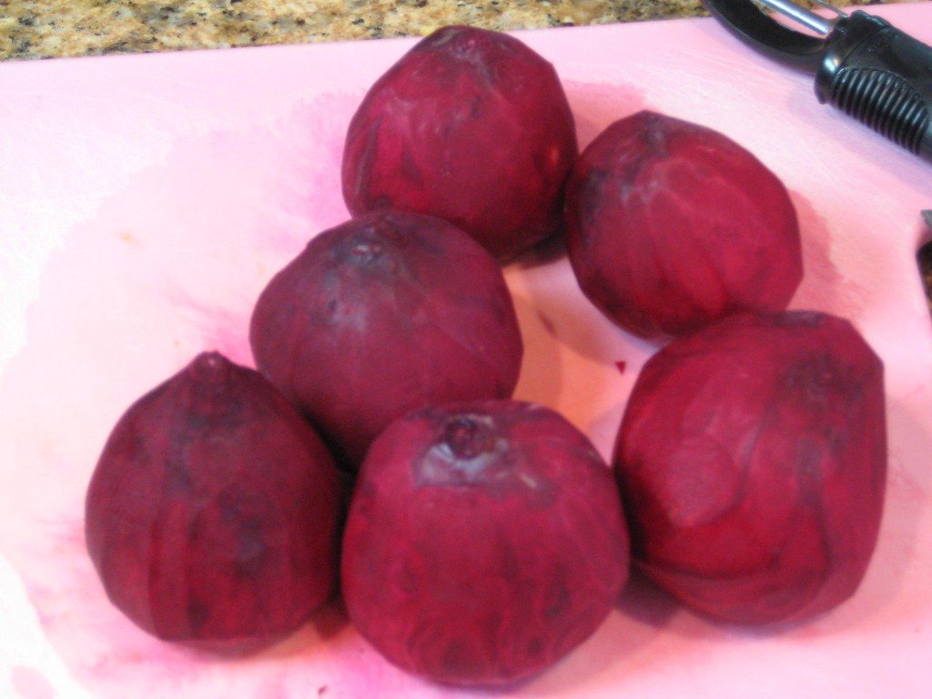 Peel the beets.