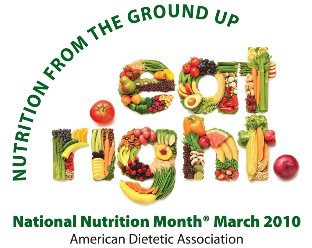 National Nutrition Month - beautiful graphic, don't you think so?
