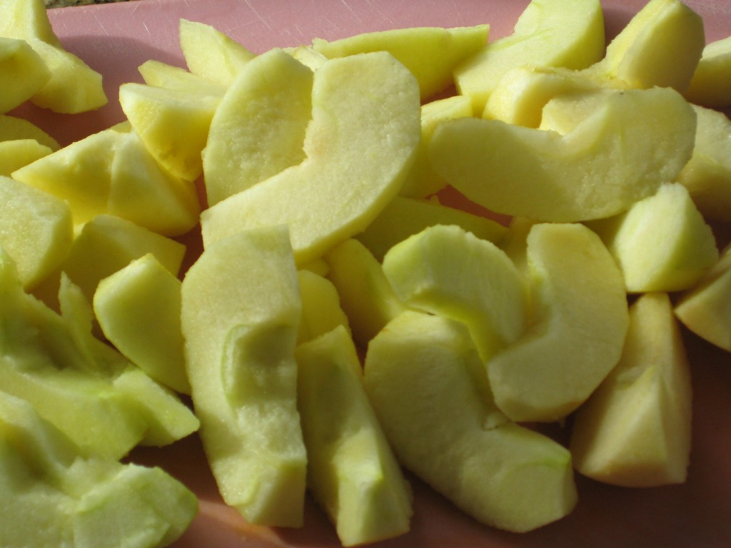Prepare the apples - I used Braeburn.