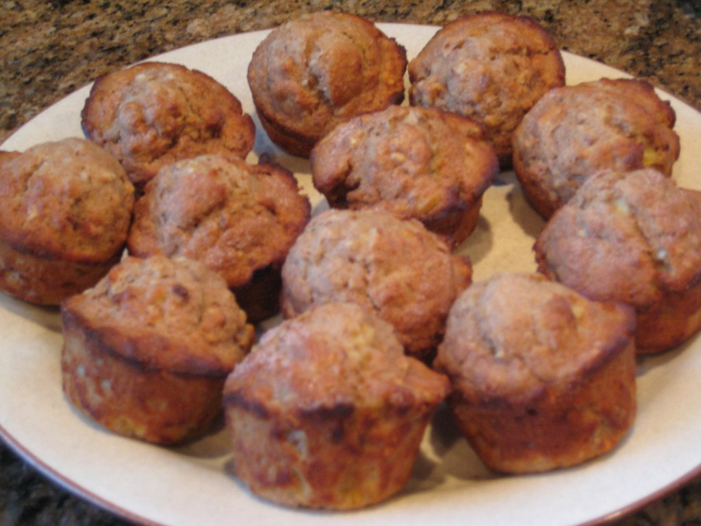Moist and flavorful muffins - don't feel deprived when benefiting from the mindless margin.