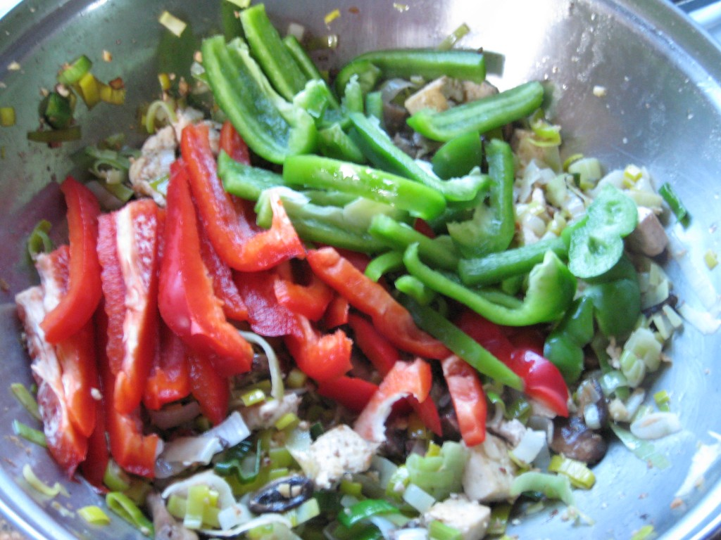Add the peppers.