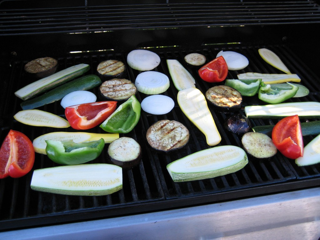 Grill the veggies.