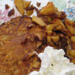 Sweet Potato Pancake with Apple Walnut Topping