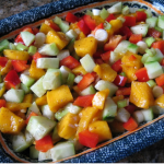 Cool Refreshing Cucumber Mango Salsa