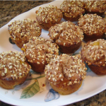 Peachy Muffins with Chopped Almonds