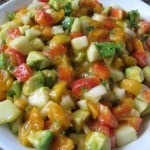 Fresh Apricot Avocado Cucumber Salsa