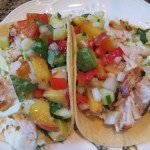 Grilled Fish Tacos with Peachy Salsa